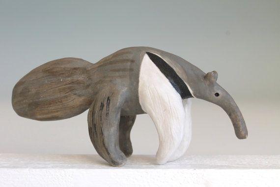 Ceramic sculpture Ceramic Anteater Anteater Art by midoritakaki