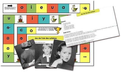 Jeu de l'oie des syllabes: Conscience Phonologique, Class De, Ecole, Des Syllabes, Set, Alpha, Classroom Ideas, L Oied Des, De L Oied