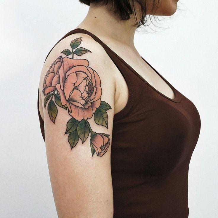 Розовые розы. Женская татуировка. Pink roses. Woman tattoo.