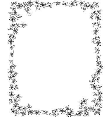 Floral frame on VectorStock
