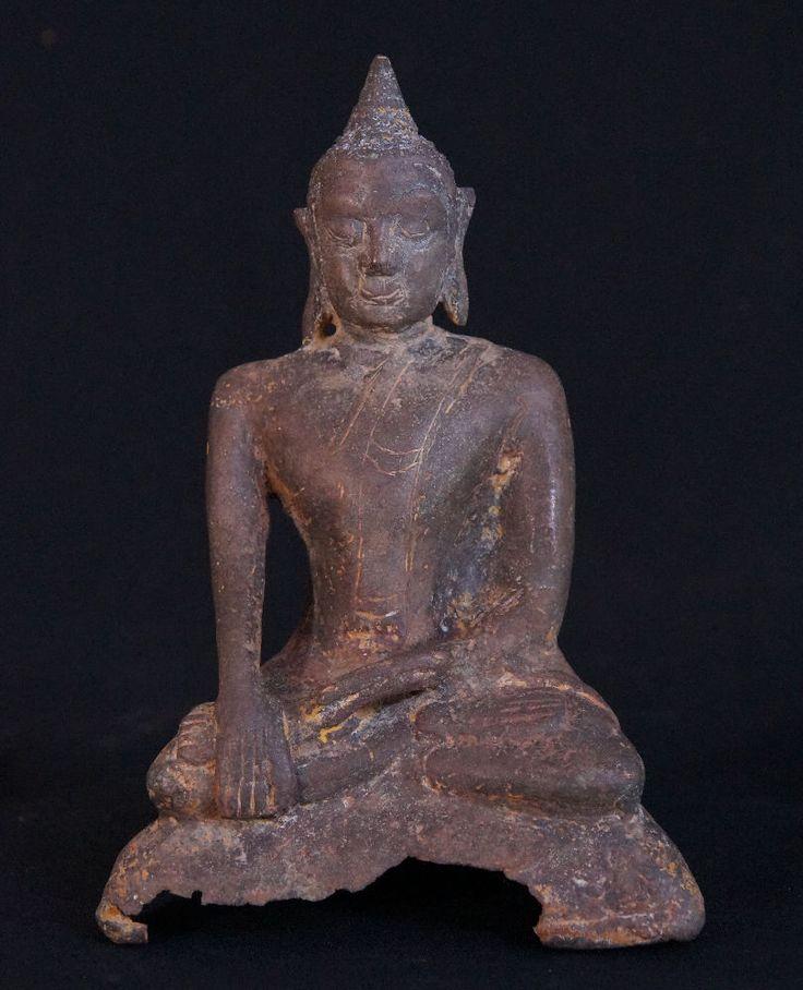 15-16th century Burmese Mon Buddha Statue for sale   Antique Buddha Statues #Burma
