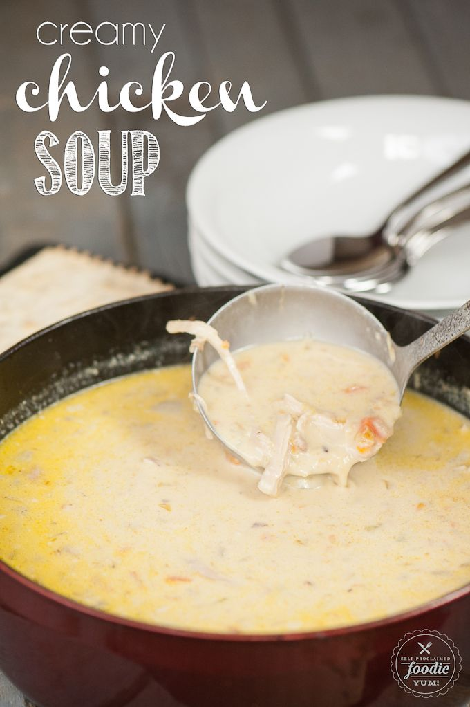 This rich and Creamy Chicken Soup, loaded with veggies, is a healthy and easy to make meal that your entire family will love.