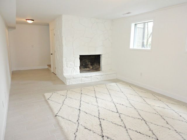 Sherwin Williams Simply White On Walls Of A Basement Trim