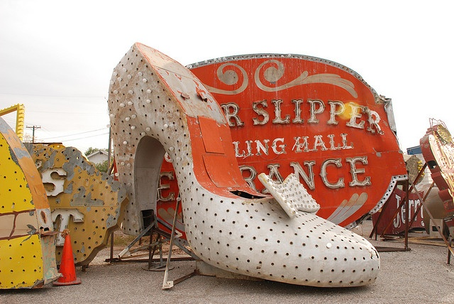 old neon signs in las vegas the silver slipper. also gone. they have destroyed most of the Las Vegas glamor