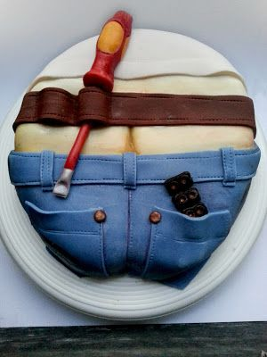 PettiBear's Fashion Roar: My sweet Handyman MMF Electrician cake I just made for my husband's 34th B-Day Love you babe!
