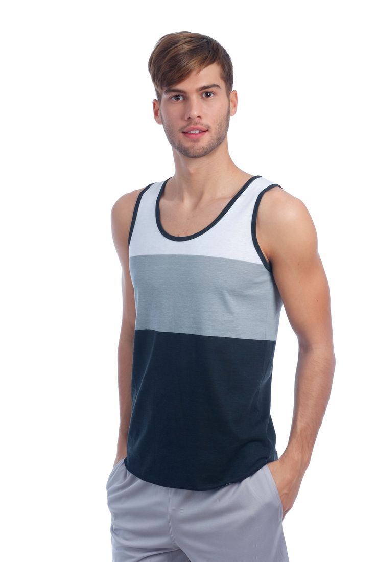 Soft fitted 3 color mens ringer tank top made from quality cotton / polyester blend. The perfect tank top for your basic apparel wardrobe. • 60% Combed Cotton / 40% Polyester • Single Jersey Cotton Bl
