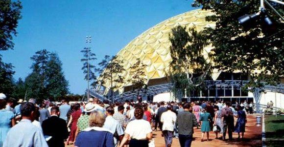 В 1959 год геодезический купол выставочный павильон США в Москве, Сокольники