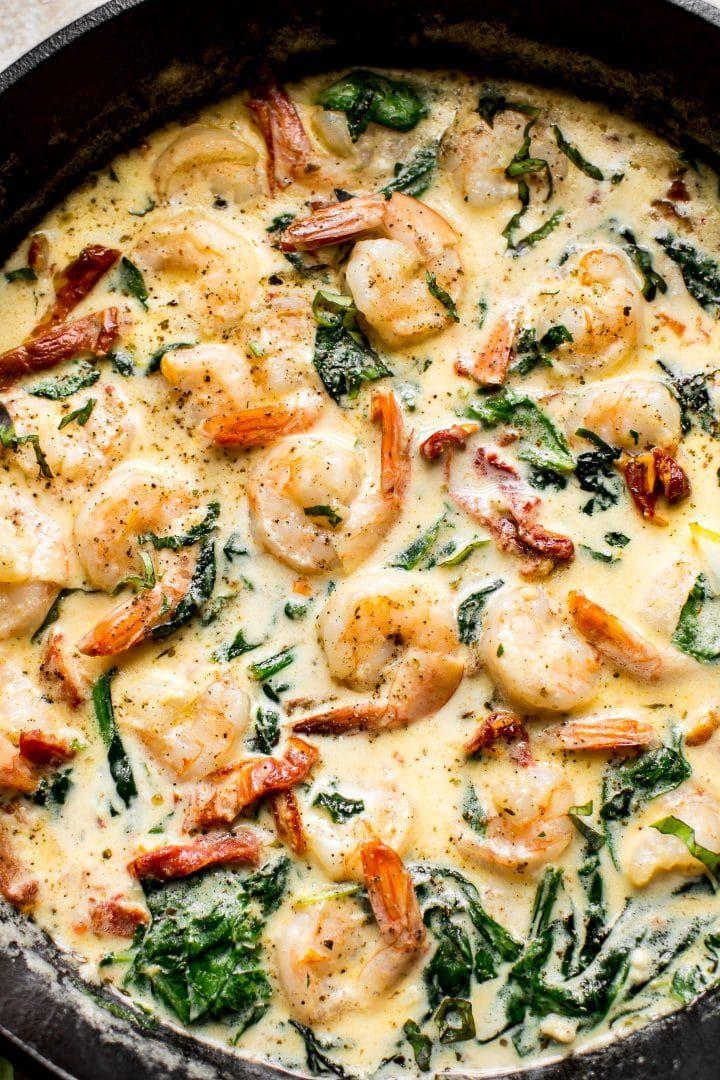 Cremige Knoblauchbutter toskanische Garnelen – ein schnelles und einfaches Abendessen unter der Woche! Tolle Se …   – yummy