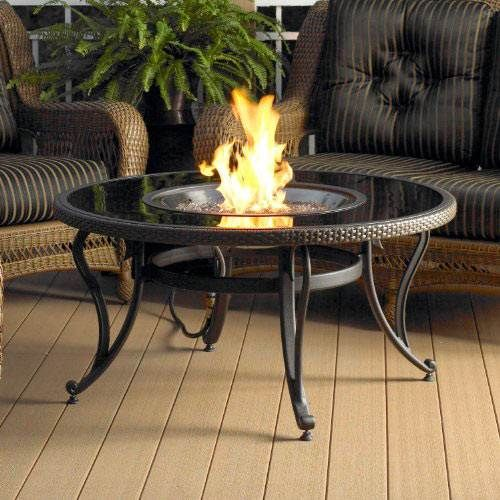 """Shop for the Outdoor Greatroom Company 42"""" Glass Fire Pit Table with Crystal Fire Burner"""