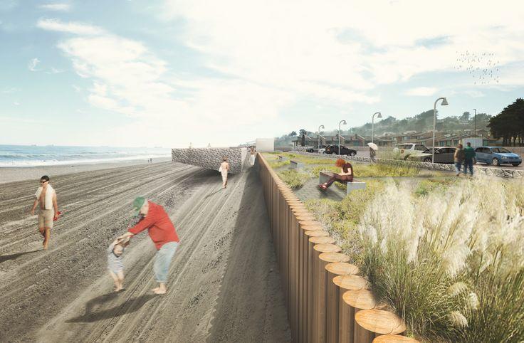 """Primer Lugar Concurso """"Plan Maestro de Ordenamiento Urbano y Territorial del Borde Costero y Paseo del Mar"""" / Mas Fernandez Architects"""