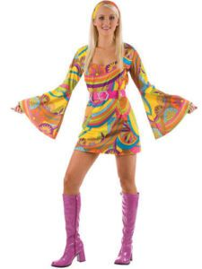 Hippies style 70 dress
