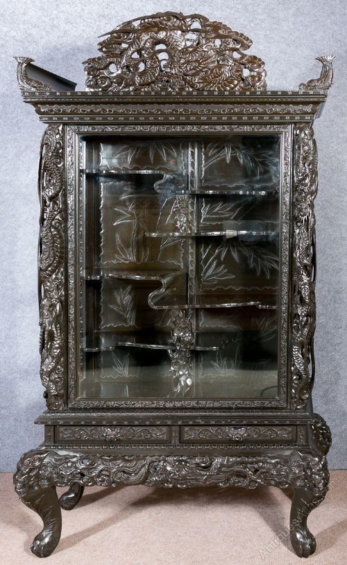 Chinese Japanese Oriental Display Cabinet - Antiques Atlas - Chinese Japanese Oriental Display Cabinet - Antiques Atlas Art