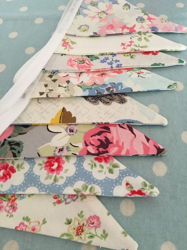 10 ft Bunting in Cath Kdston  cotton  fabrics,banner,flag,wedding,event,party £7.99