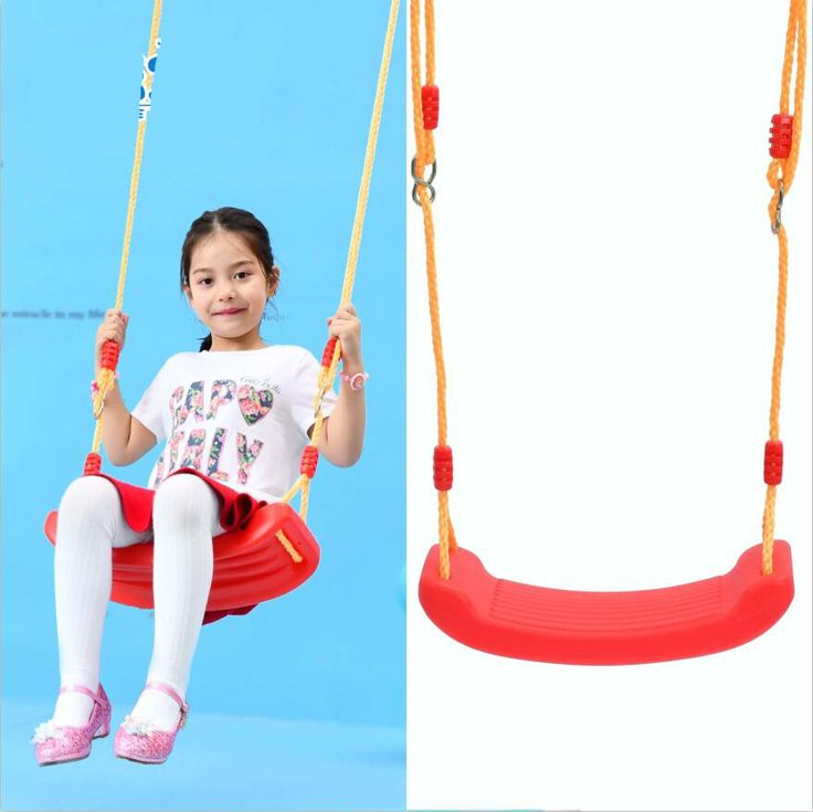 High quality indoor and outdoor children swing  big bending plank swing seat strong child hammock chair 6 colors optional