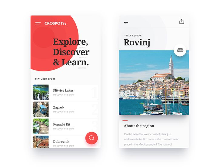 CroSpots - Mobile Web by KREATIVA Studio