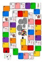 Ganzenbord Elmer - spelbord