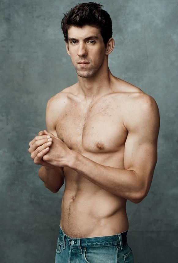 Michael Phelps Shirtless. Such a fine specimen of the male side of the human species.