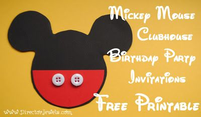 Director Jewels: Mickey Mouse Clubhouse DIY Birthday Party Invitations Tutorial