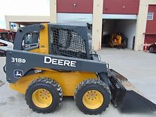 "2011 JOHN DEERE 318D TURBO ""BRAND NEW TIRES"" SKID STEER WHEEL LOADER skid steer loaders - construction equipment - equipment financing - heavy machinery"
