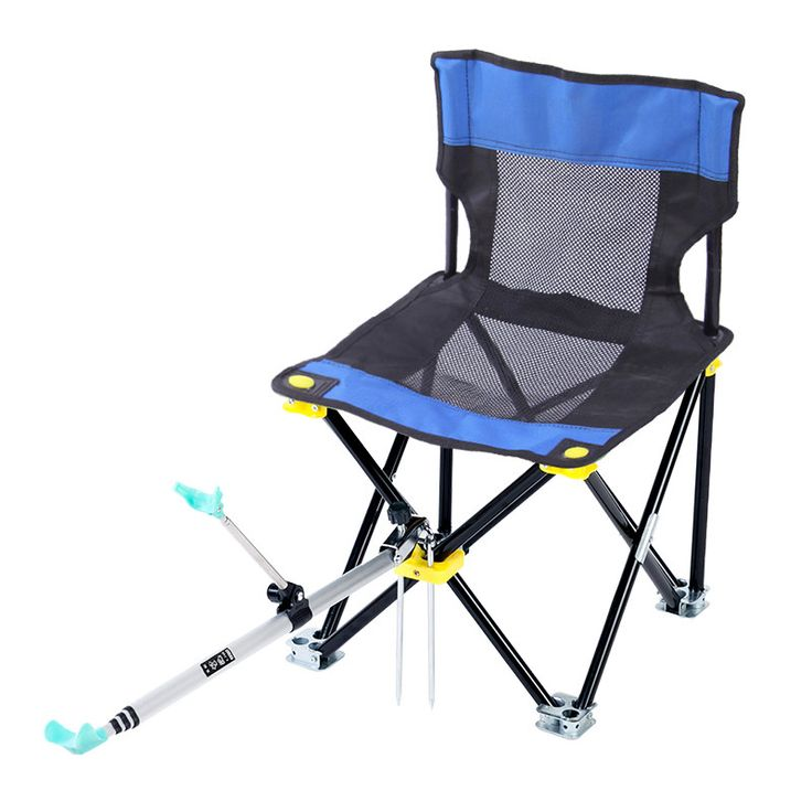 Outdoor Portable Ultralight Multifunction Fishing Chairs Folding Stool with 2.1m Aluminum Stand 1.9m Dip Net Fishing Gear