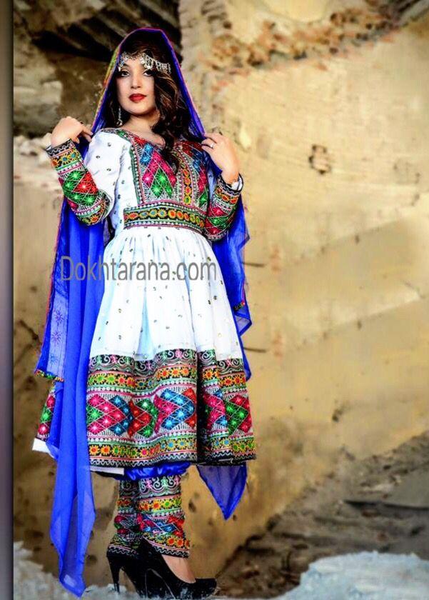 #afghan #blue #white #national #dress