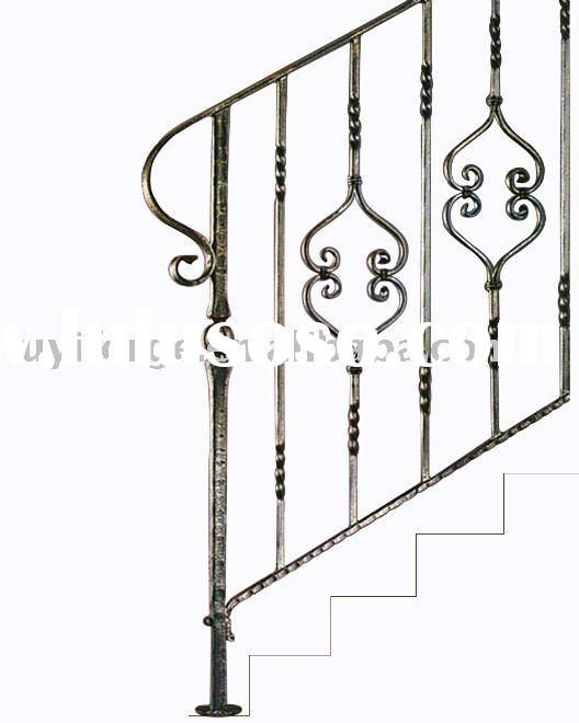 Superb Wrought Iron Stair Handrail With Noble Appearance Home Depot