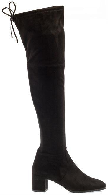 Een subtiele hak en een lief strikje maken deze laarzen super vrouwlijk. De laarzen zijn van Evalune. Kopen? Klik op de foto!