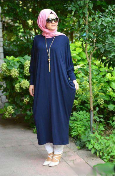 #abaya #abayafashion #butterflyabaya #hijab  Jersey Batwing Bubble Fusion Abaya - Navy