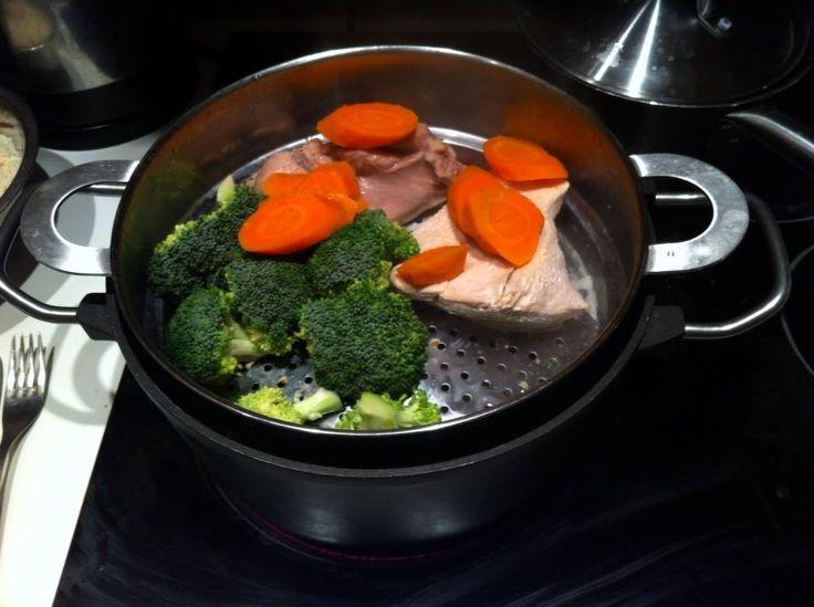 gotowanie na parze jest fajne :) tu jeszcze z czasów, jak jadłam mięcho ;)