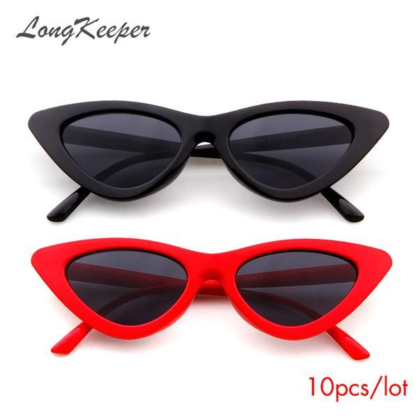 8b84d9f62cc  FASHION  NEW 2018 New Sexy Cat Eye Sunglasses Women Brand Designer Lady  Sun Glasses For Female Vintage Shades Eyewear Gafas UV400 10pcs lot