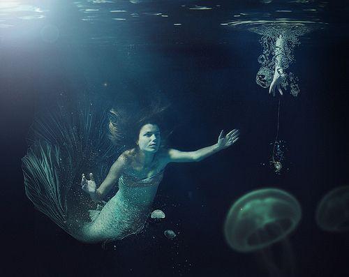 La Sirène, photo réalisée pour la première fois réellement sous l'eau !