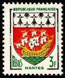 Armoiries de Nantes Armoiries des villes de France (Troisième série) - Timbre de 1958