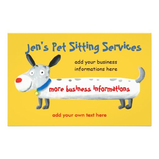 Jen's Pet Sitting Services flyer
