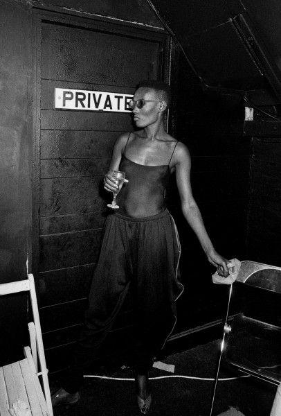 Backstage at Heaven Nightclub, London 1985.