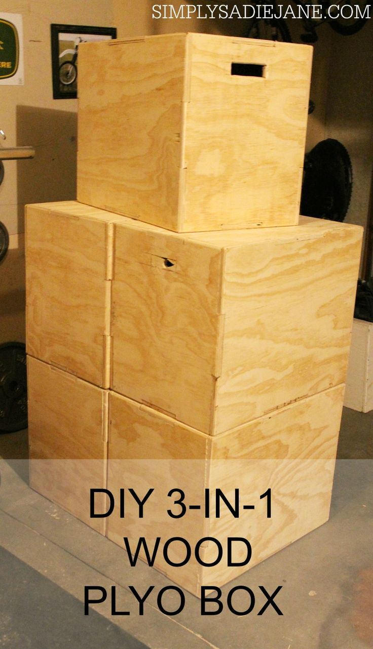 BUILD your OWN 3-in-1 WOOD PLYO BOX for under $40! www.simplysadiejane.com #fitness #DIY #crossfit