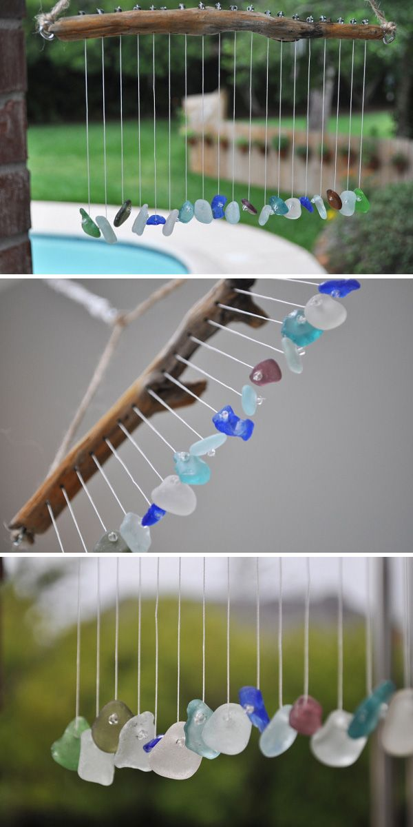 13 Crafty DIY Wind Chimes • Lots of Ideas and Tutorials! Including from 'home sweet homemade', this beautiful sea pebble wind chime.
