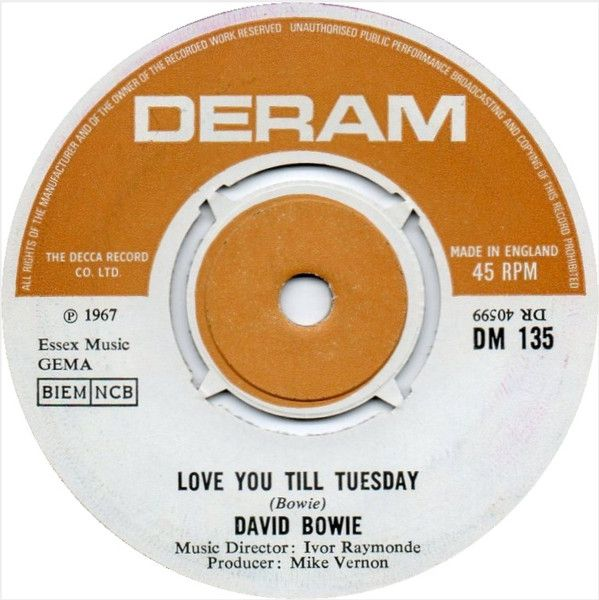 David Bowie - Love You Till Tuesday / Did You Ever Have A Dream