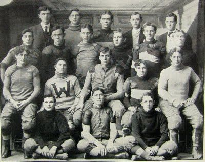 We wouldn't style like this, but this is the era to evoke with props  Bygone Walla Walla: vintage images of the City and County, collected by Joe Drazan: Whitman College sports, 1909
