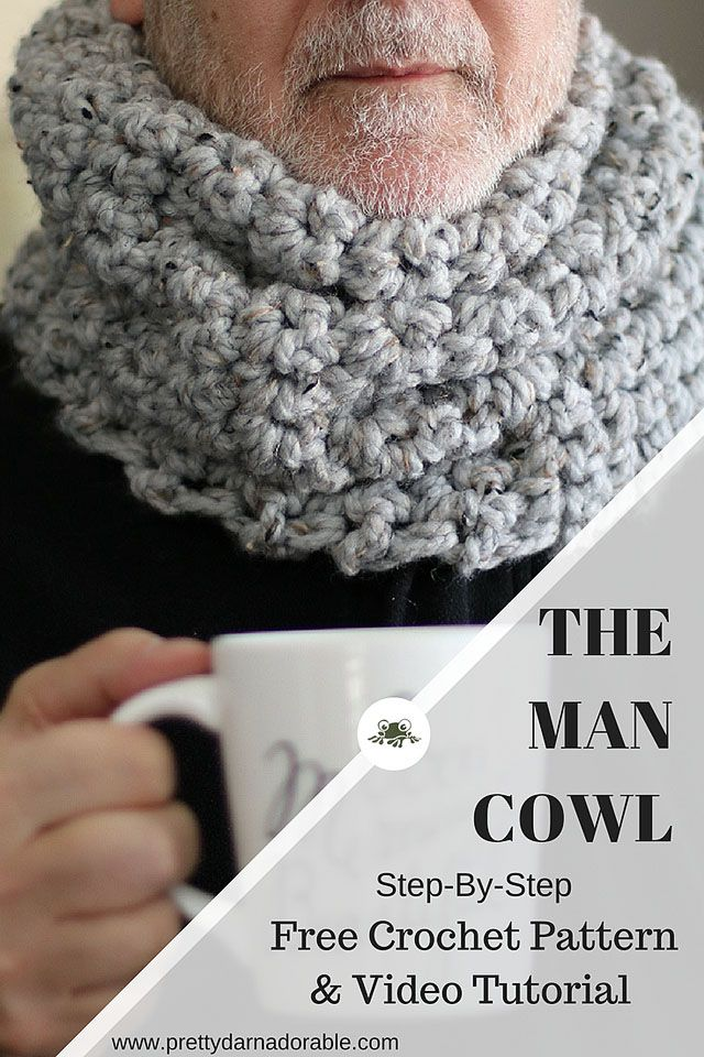 Free Crochet Cowl Pattern for Men This cowl of course can be made for anyone but this is the preferred style of all the men in my house.