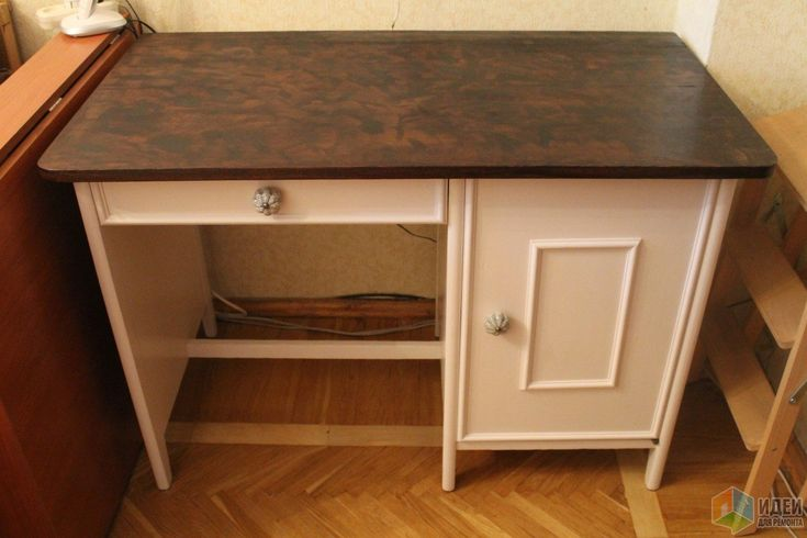 Переделка деревянного стола, реставрация столешницы
