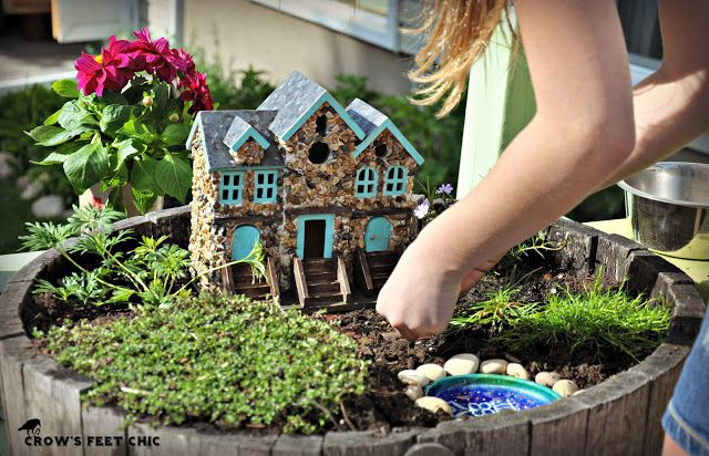 Miniature Fairy Garden Irish House W/swinging Door ...  |Fairy Garden Ideas Ireland