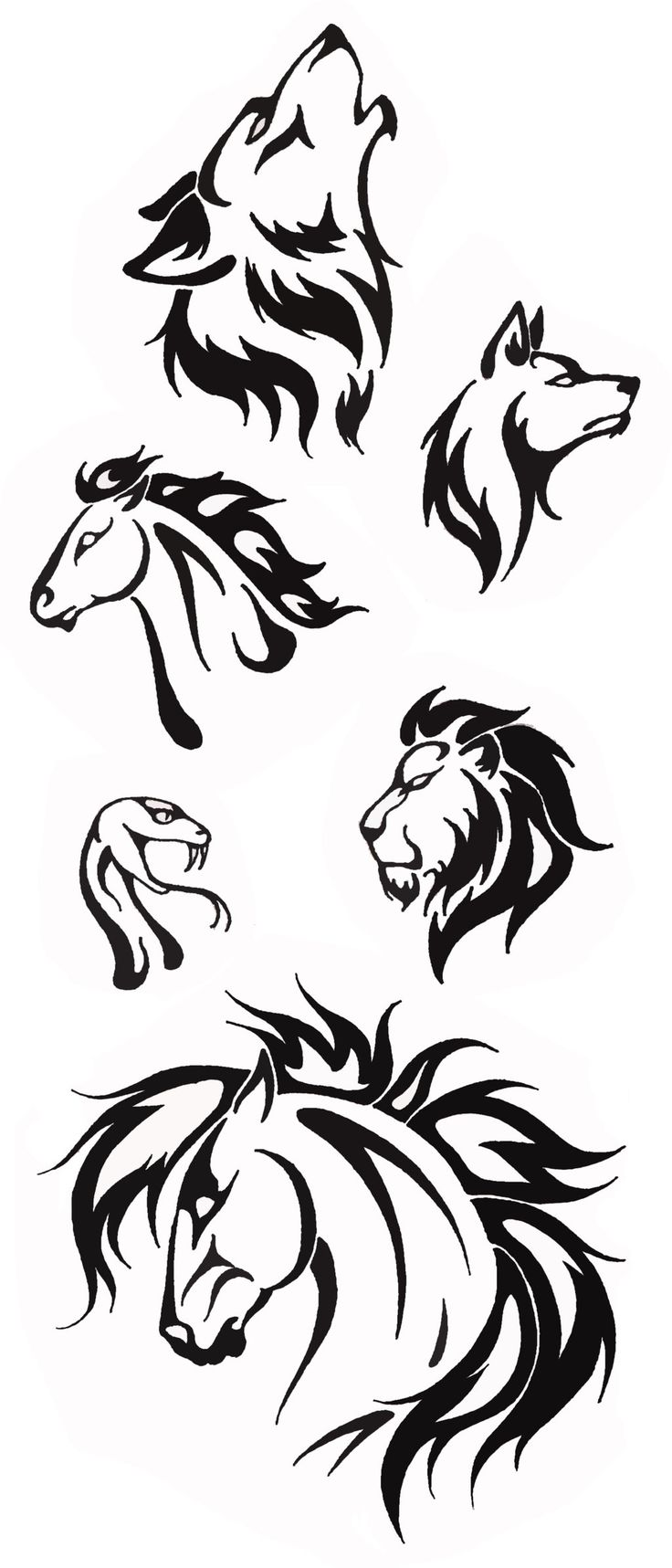 simple tribal animal designs tribal animal tattoos tribal tiger tattoo ...