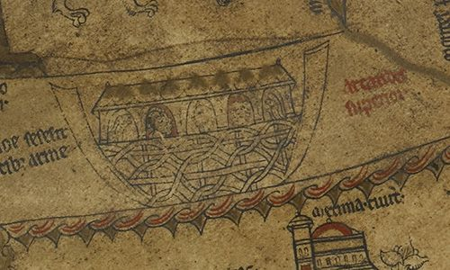 The Hereford Mappa Mundi - Noah's Ark
