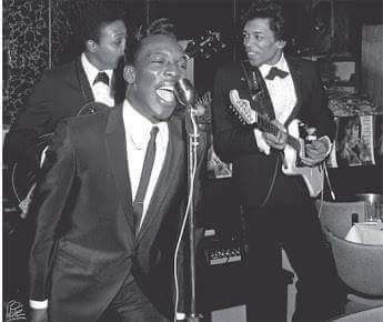 Here's A Brilliant Photo Showing Jimi Hendrix Backing Up Soul Singer & R&B Titan Wilson Pickett, In 1966. Not Long After This Jimi Was In London Playing With Mitch Mitchell & Noel Redding & Gearing Up To Blow The Whole World's Collective Mind !