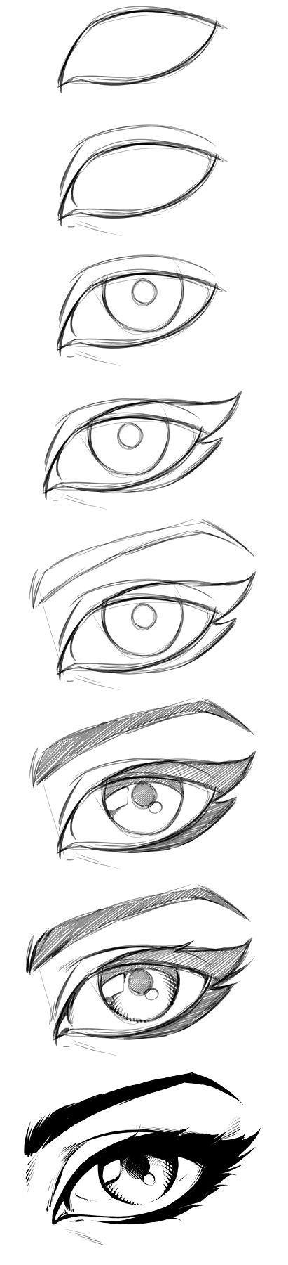 Wie zeichnet man Manga-Augen