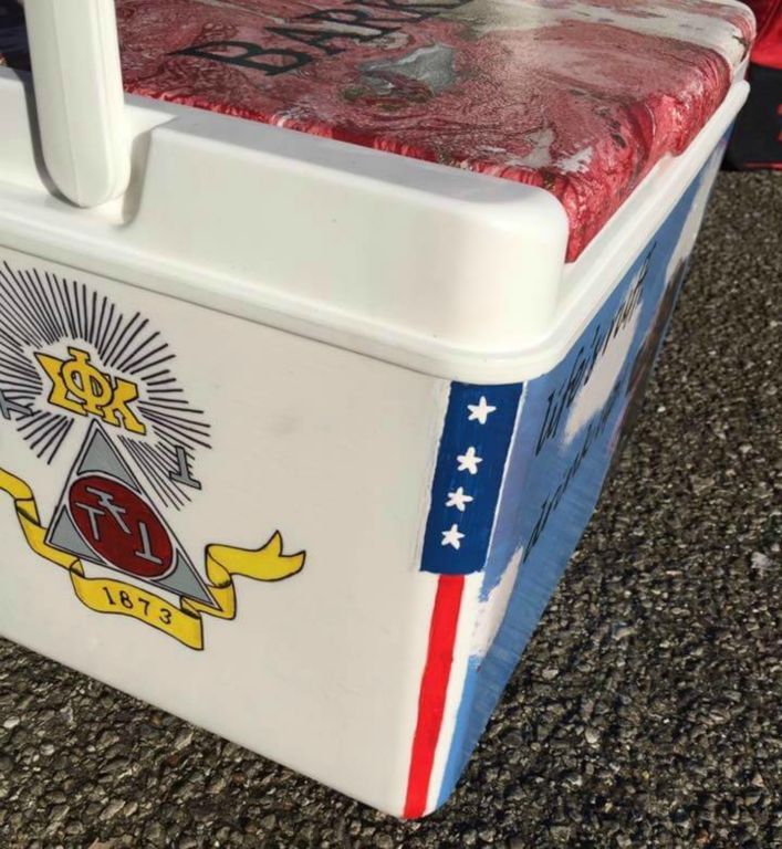 COOLERSbyU Examples   PSK fraternity crest    Tags: Tags: psk, phi sigma kappa, fraternity crest, fraternity cooler