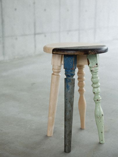 Ryo Chohashi includes second-hand in his furniture work - Upcyclista #Upcycle