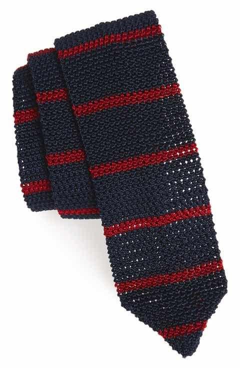 Michael Bastian Stripe Knit Silk Tie