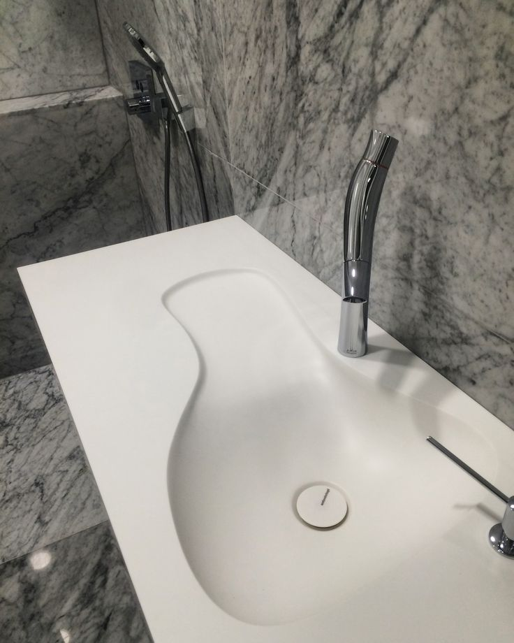 Antonio Lupi + Axor Starck + Carrara marble