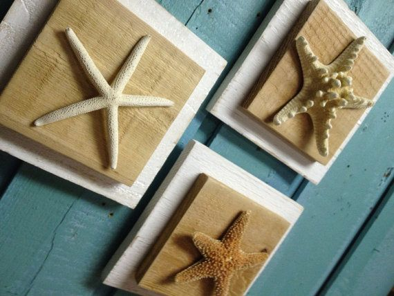 Hey, I found this really awesome Etsy listing at https://www.etsy.com/listing/179055968/starfish-plaque-set-of-3-beach-house